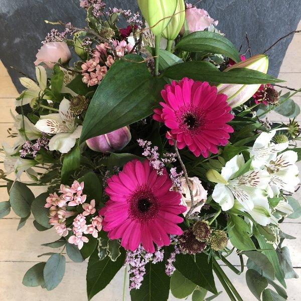 Strauß mit rosa Lilien Bild 1