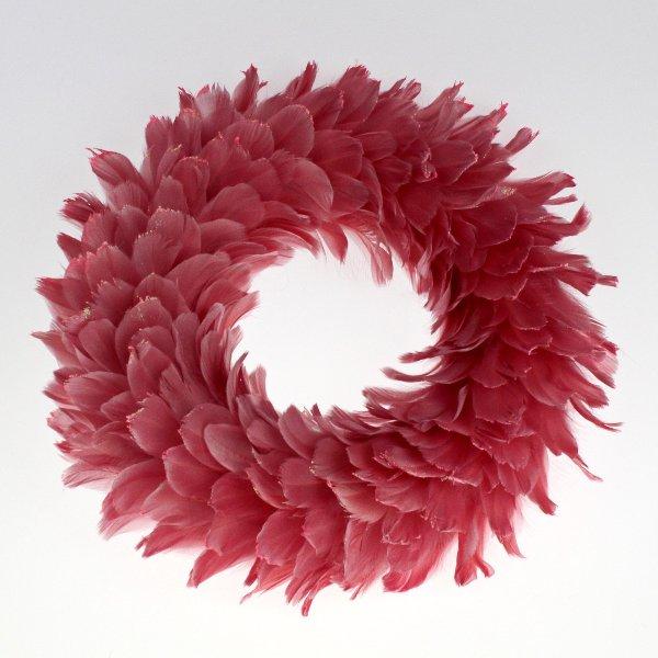 Federkranz in rosa Bild 1