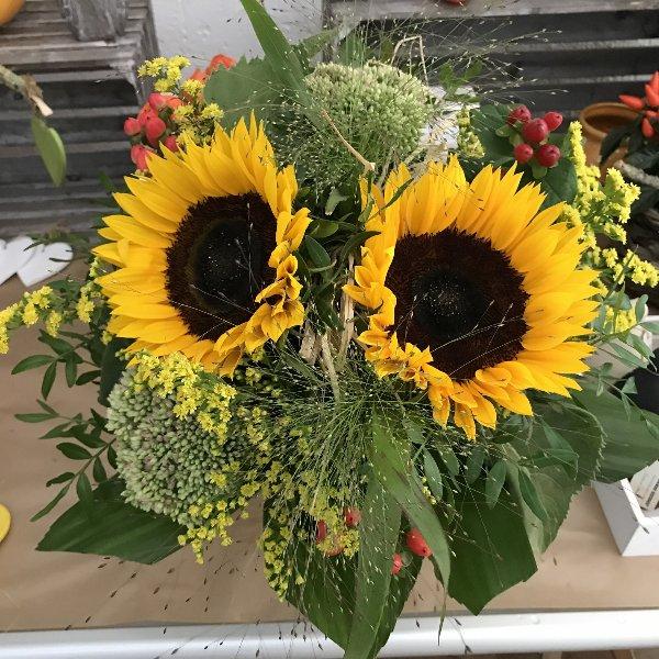 Sonnenblumengruß Bild 1