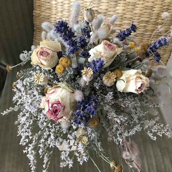 Trockenblumenstrauß klassik Bild 1