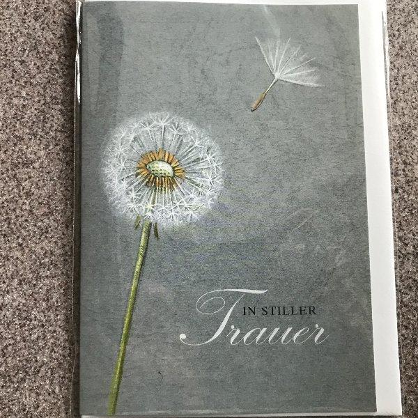Trauerkarte mit Umschlag Bild 1