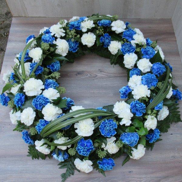 Blütenkranz, blau-weiss Bild 2