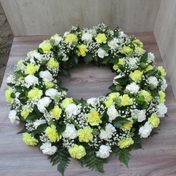 Blütenkranz, gelb-weiß Bild 1