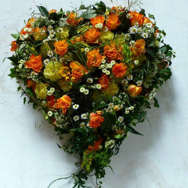 Blütenherz Orange Bild 1