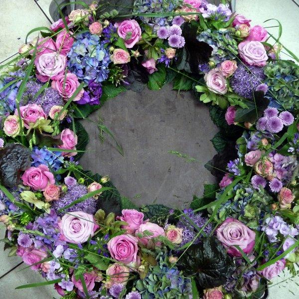 Trauerkranz Rosa Bild 1