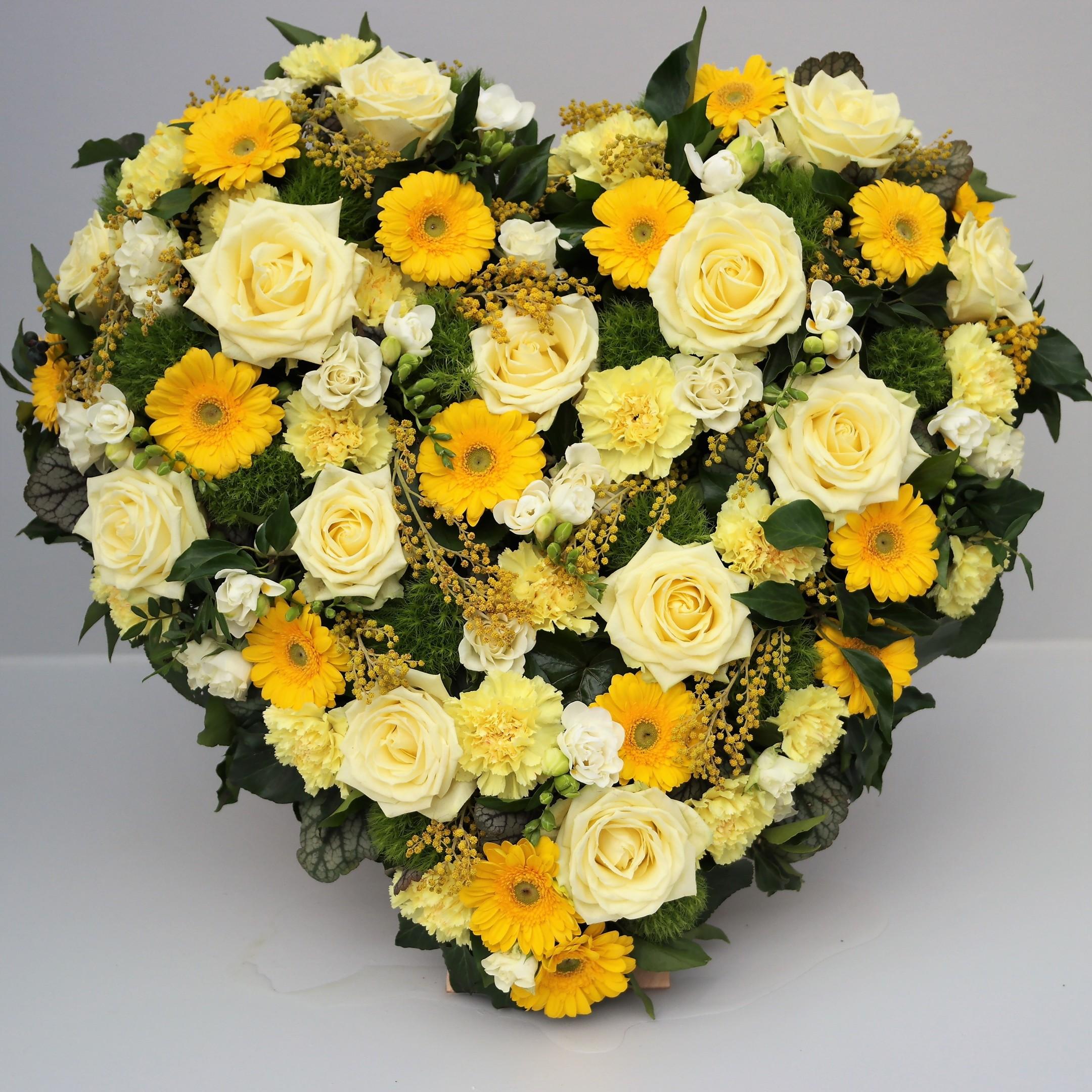Gelbes Blumenherz Bild 1