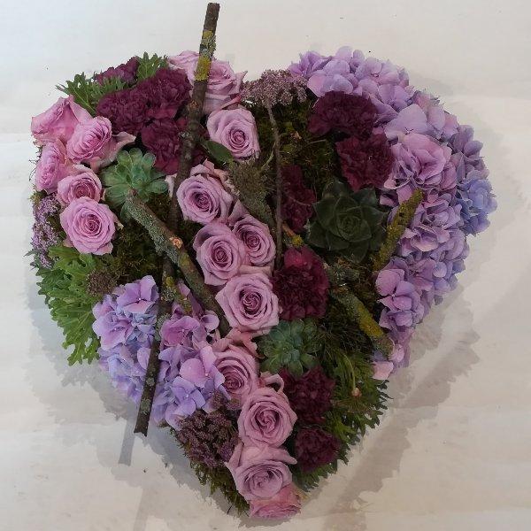 H 19 Herz in lilafarben Bild 1