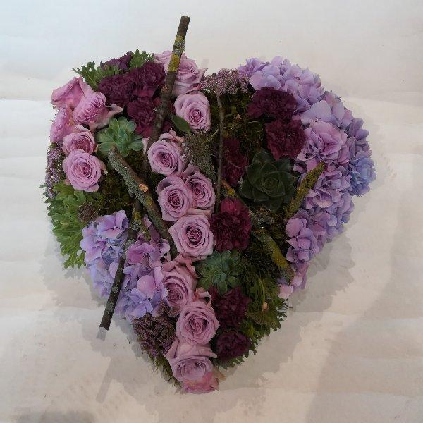 H 19 Herz in lilafarben Bild 2