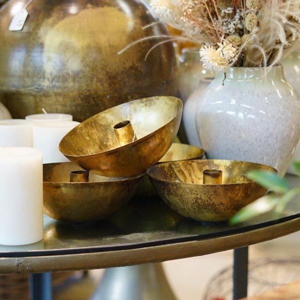 Kerzenständer gold Bild 1