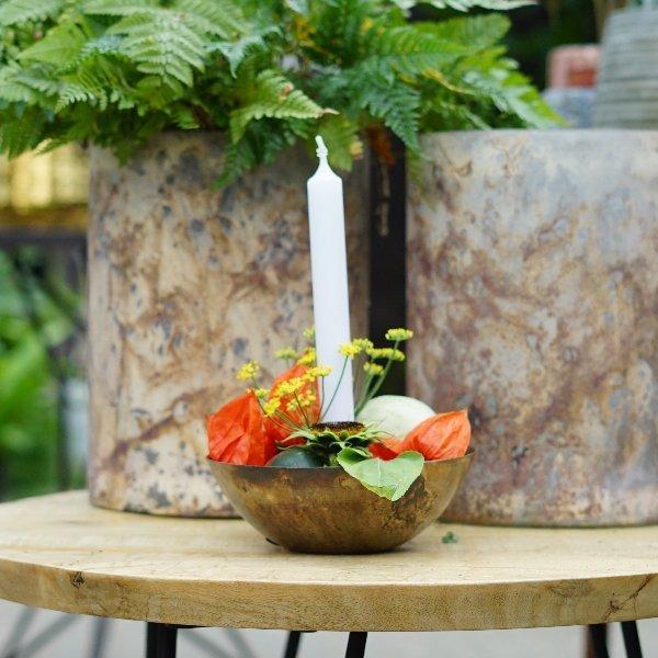 Kerzenständer gold Bild 2