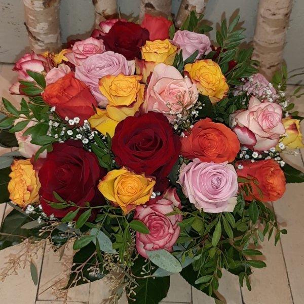 Strauß bunte Rosen Bild 1