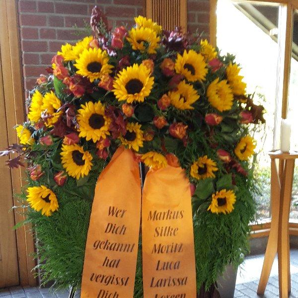 Kranz halbrund Sonnenblume Bild 1