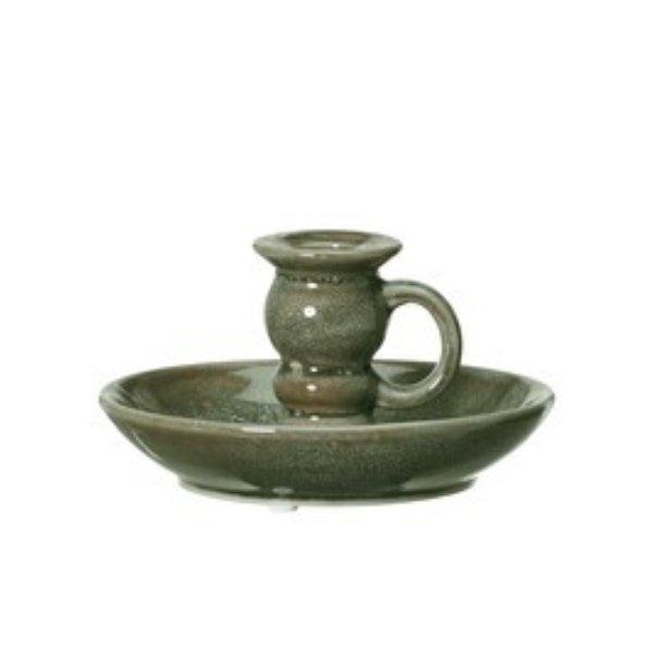 Kerzenhalter oliv-grün Bild 3