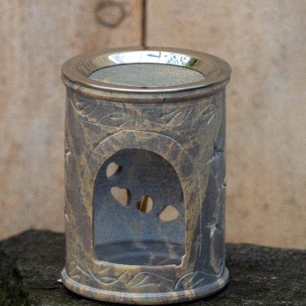 Weihrauchgefäß Speckstein mit Sieb Bild 1
