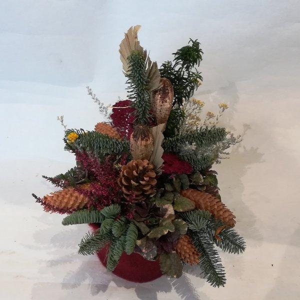 A0018 Grabgesteck mit haltbaren Pflanzen Bild 2