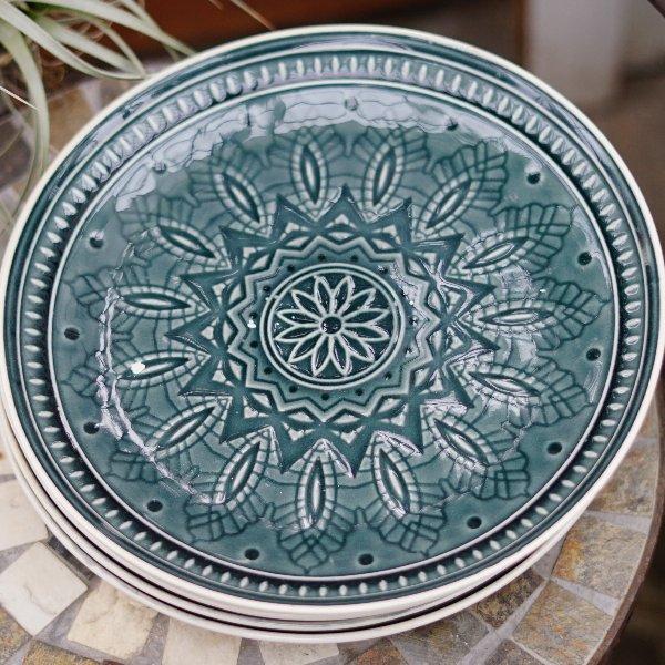 dekorativer Teller in blau Bild 1