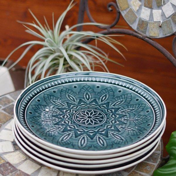 dekorativer Teller in blau Bild 2