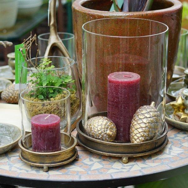 Kerzenglas gold Bild 1