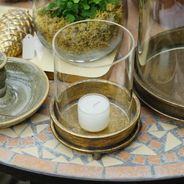 Kerzenglas gold Bild 3