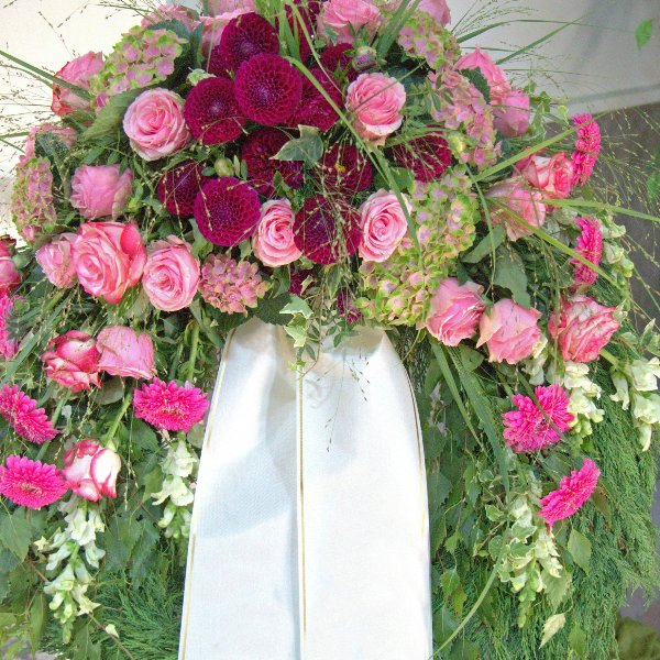 Trauerkranz  Pink-Lila Bild 1