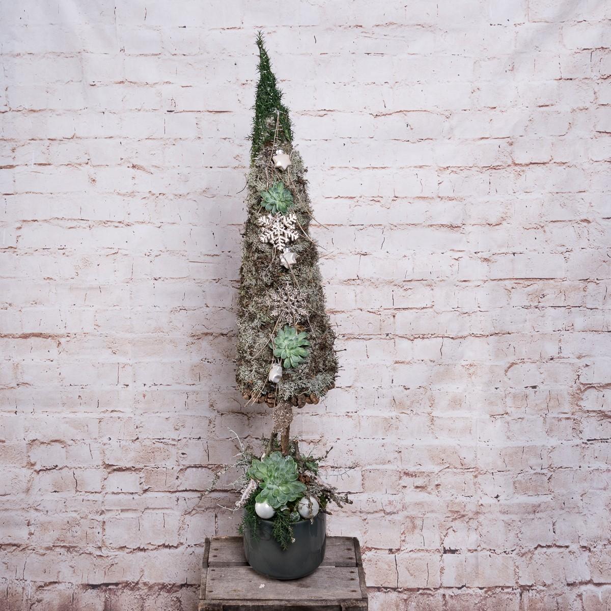 Gewickelter Baum weihnachtlich dekoriert Bild 1