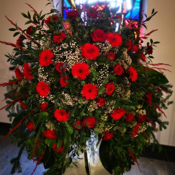 Trauerkranz klassisch Gerry, Rose Bild 2
