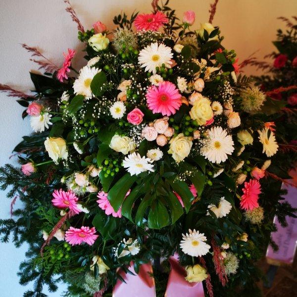 Trauerkranz klassisch Gerry, Rose Bild 3