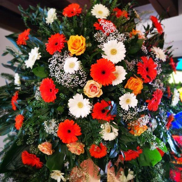 Trauerkranz klassisch Gerry, Rose Bild 4