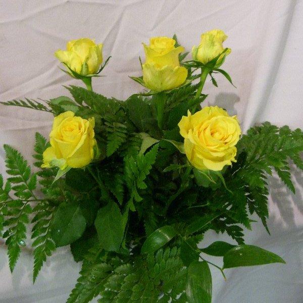 5 Rosen mit grün Bild 2