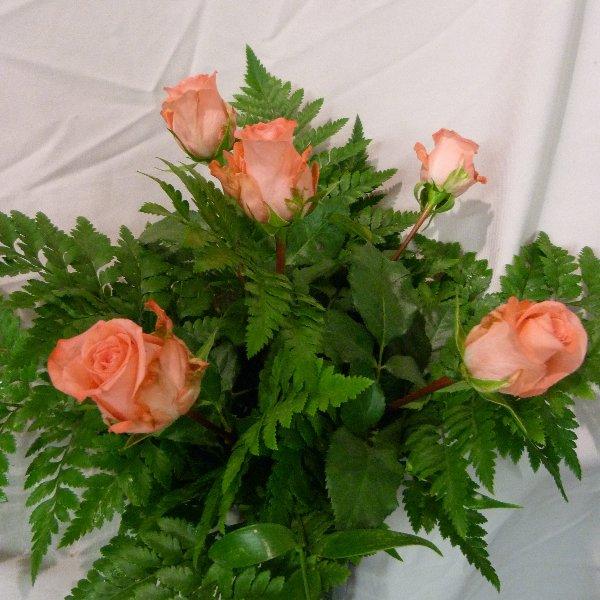 5 Rosen mit grün Bild 3