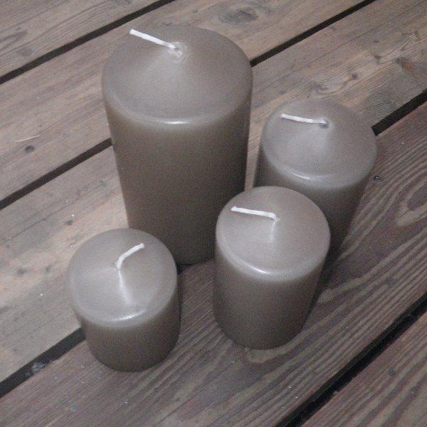 Kerzen in flachs in unterschiedlichen Größen Bild 1