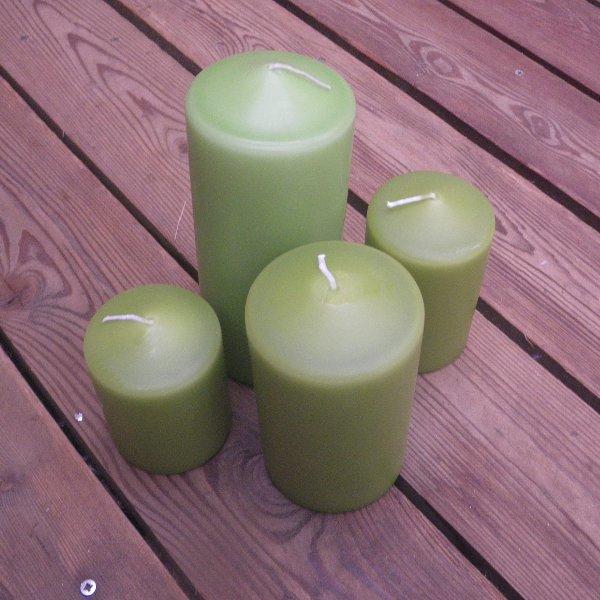 Kerzen in grüne Banane in unterschiedlichen Größen Bild 1