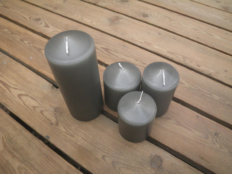 Kerzen in granit in unterschiedlichen Größen Bild 1