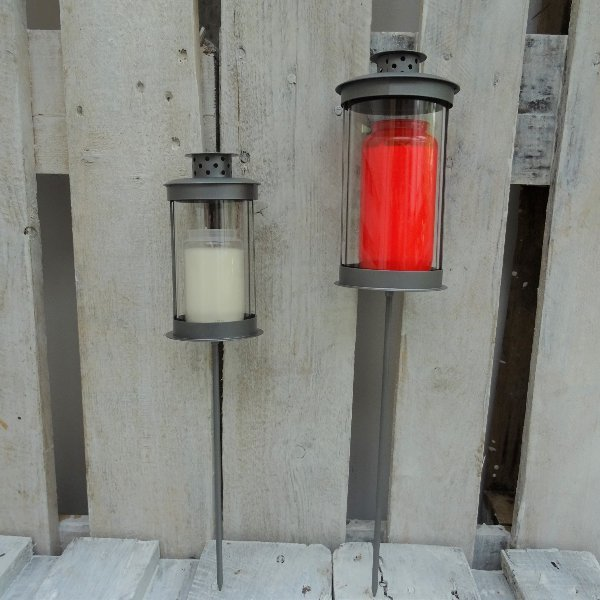 Metalllaterne am Stab (inkl. Kerze) Bild 1