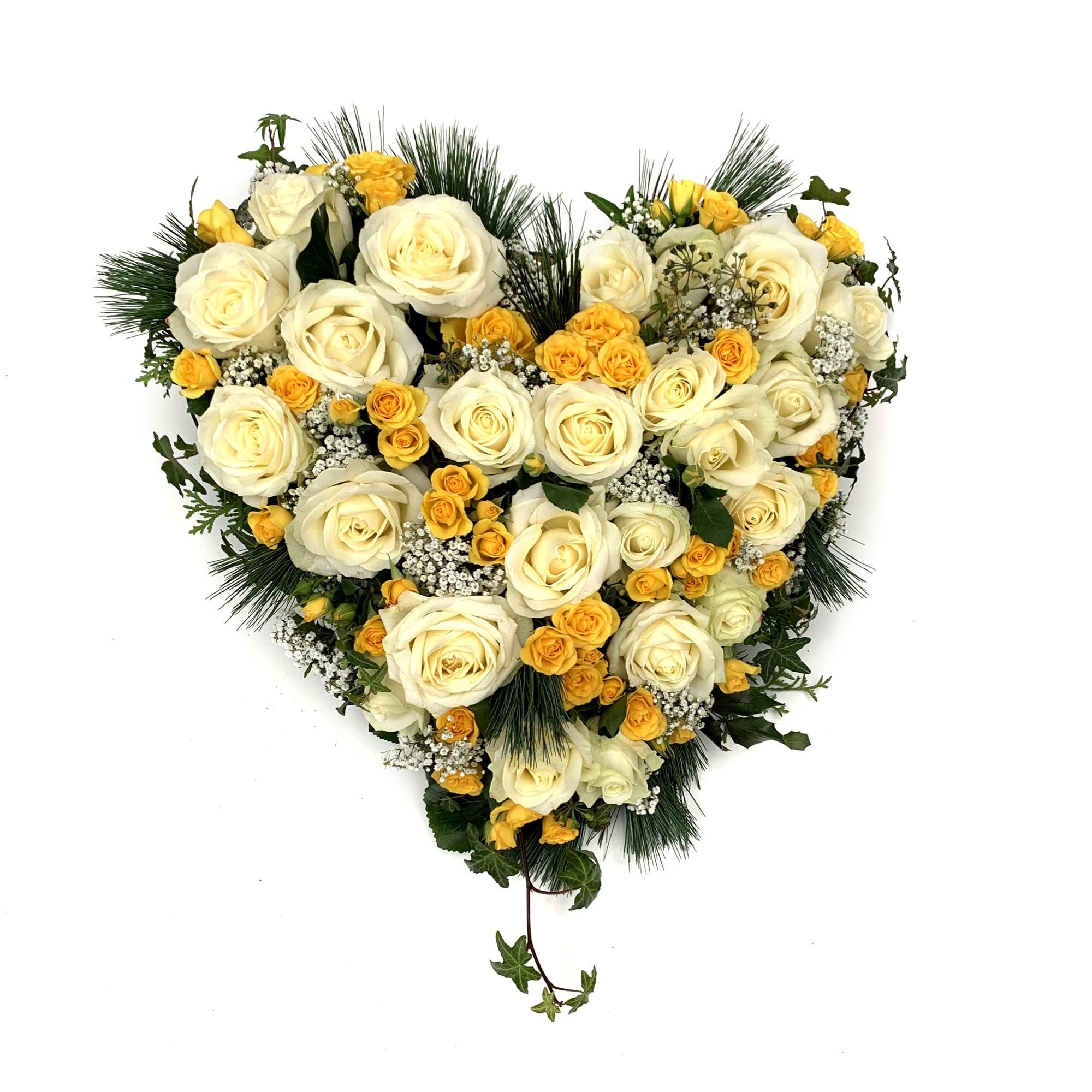 Herz weiss- gelb Bild 1
