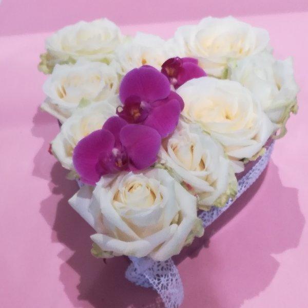 H 2      Rosen in Herzschale Bild 2