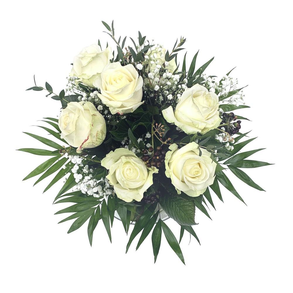 Strauß mit weissen Rosen Bild 1