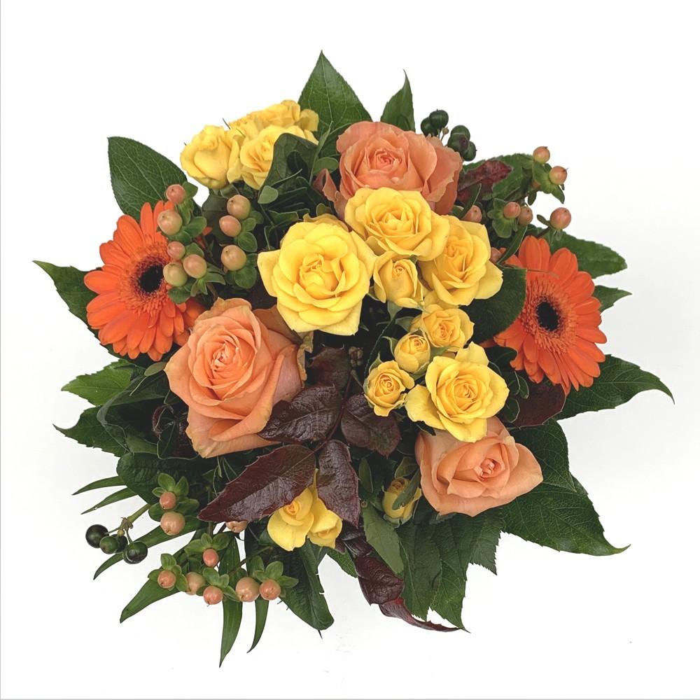 Strauß in orange/gelb Bild 1