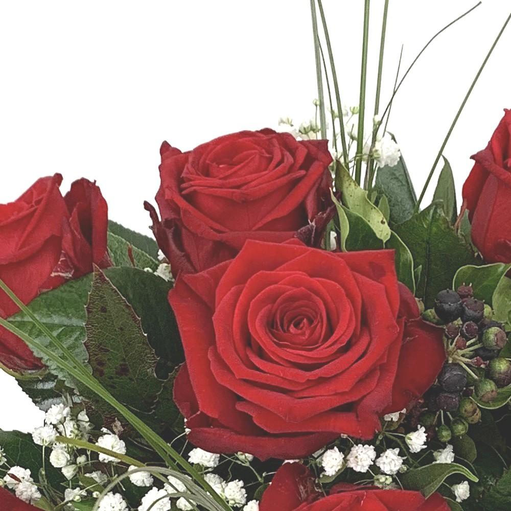 Strauß mit roten Rosen Bild 2