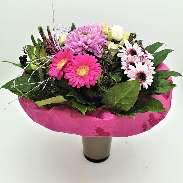 Bunter Strauß in rosa und pink Bild 1