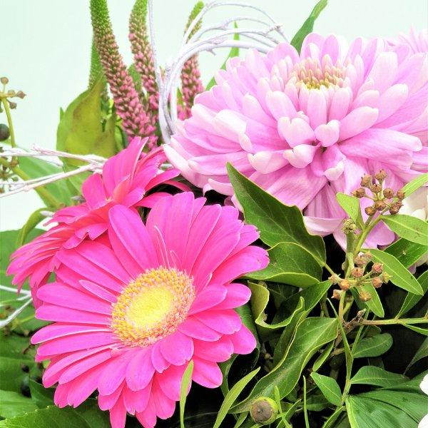 Bunter Strauß in rosa und pink Bild 4