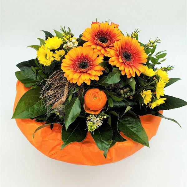 Blumenstrauß Ton- in- Ton gelb/orange Bild 1