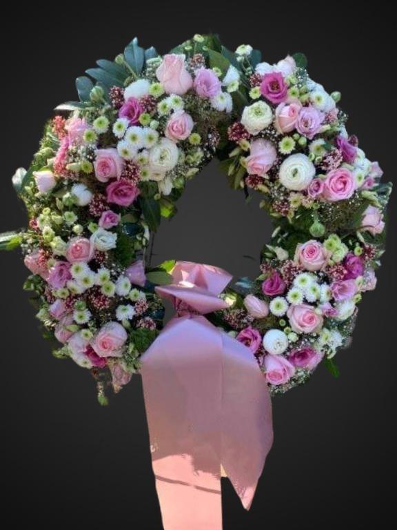 Kranz rosa-weiß Bild 1