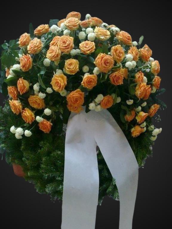 Kranz orange-weiß Bild 1