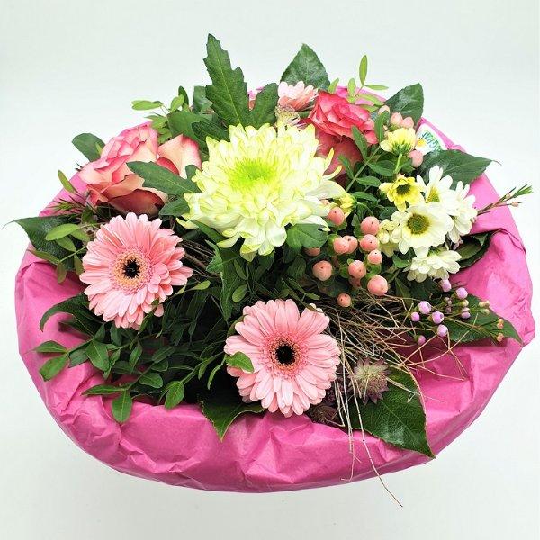 Blumenstrauß in weiß/rosa Bild 1