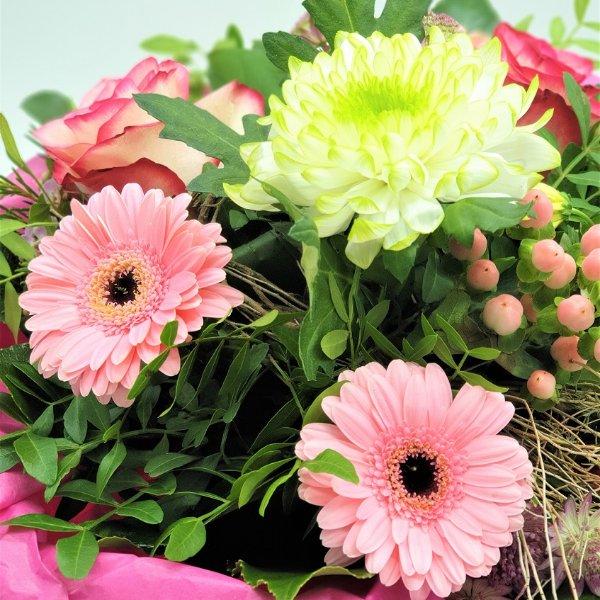 Blumenstrauß in weiß/rosa Bild 2