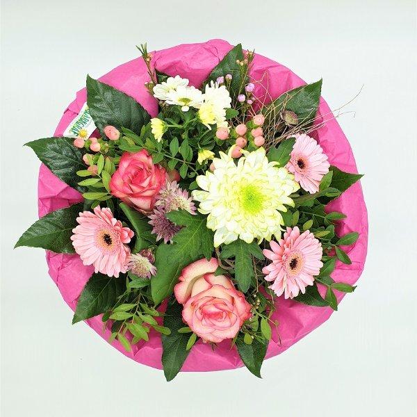 Blumenstrauß in weiß/rosa Bild 4