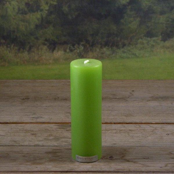 Weizenkorn Kerze grün glatt Bild 1