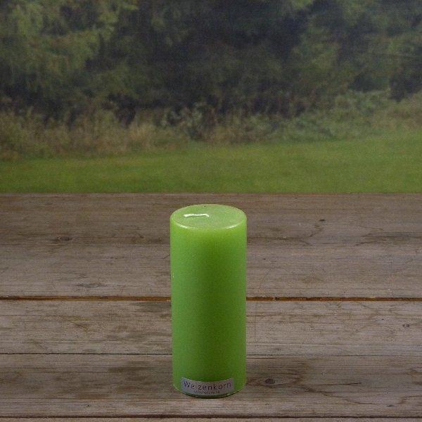 Weizenkorn Kerze grün glatt Bild 2