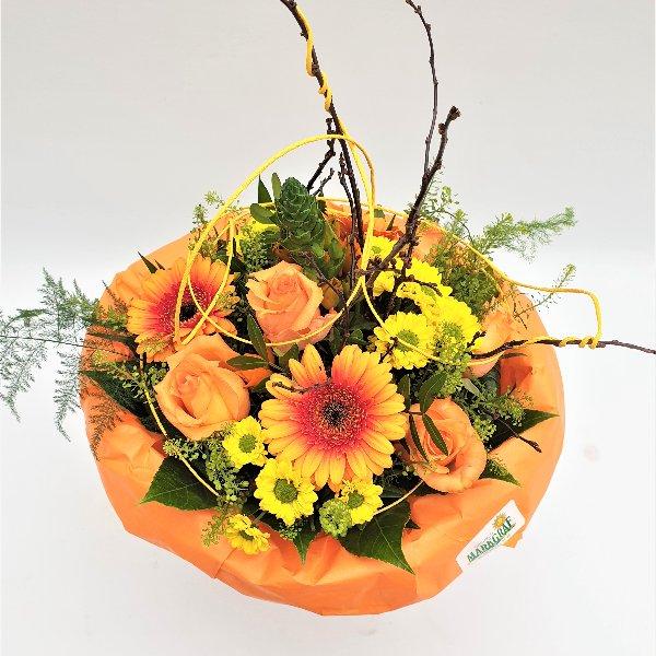 Blumenstrauß gelb/orange/grün Bild 1